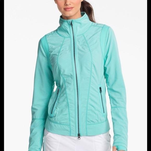 Zella Jackets & Blazers - Zella turquoise zipper jacket